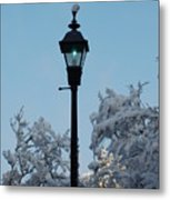 Snow In The Low-country Metal Print