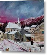 Snow Is Falling Metal Print