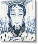 Snow King Slumbers Metal Print