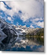 Snow Lake Vista Metal Print