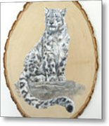 Snow Leopard - Renewed Perception Metal Print
