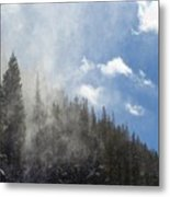 Snow Lift Metal Print