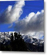 Snow Line In Socal Metal Print