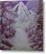 Snow Magic Metal Print