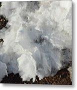 Snow Melting Shapes Metal Print