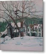 Snow Next Door Metal Print