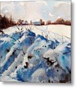 Snow On Southwick I Metal Print by Elizabeth Carr