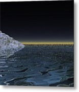 Snow On The Black Sea Metal Print