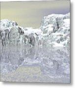 Snow On The Coast Metal Print