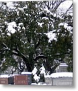 Snow On The Graves Metal Print