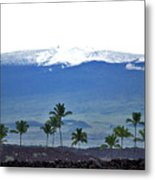 Snow On The Mountain Metal Print
