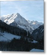 Snow On The Mountains Metal Print