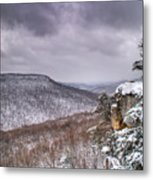 Snow On The Plateau Metal Print