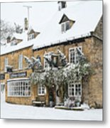 Snow On The Wold Metal Print