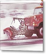 Snow Plow In Business Park 2 Metal Print