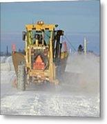 Snow Plowing Metal Print