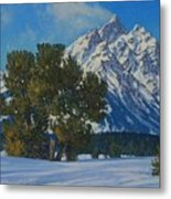 Snow Plume-cathedral Group Metal Print