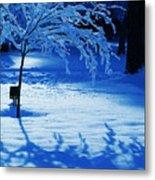Snow Shadows Metal Print