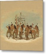 Snow Shoe Dance. Ojibbeway Metal Print