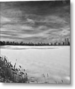Snow Storm 2 Panorama Metal Print