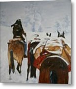 snow storm in the Rockies Metal Print