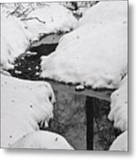 Snow Stream 2 Metal Print