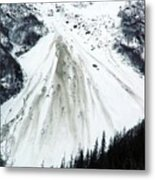 Snow Then Land Slide Metal Print