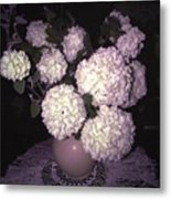Snowball Bouquet Metal Print