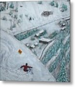 Snowbird Steeps Metal Print