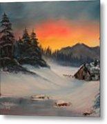 Snowbound Sunrise Metal Print