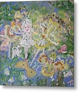 Snowdrop The Fairy And Friends Metal Print