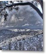 Snowfall Covers Northern Arizona For Christmas Metal Print