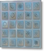 Snowflake Collage - Season 2013 Bright Crystals Metal Print