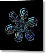 Snowflake Photo - High Voltage IIi Metal Print by Alexey Kljatov