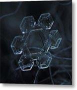 Snowflake Photo - Jewel Metal Print