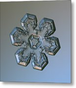 Snowflake Photo - Massive Silver Metal Print by Alexey Kljatov