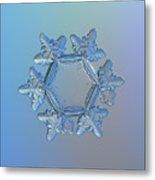 Snowflake Photo - Sunflower Metal Print by Alexey Kljatov