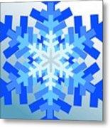 Snowflake Pile Metal Print