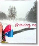 Snowing Nevando Metal Print