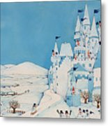 Snowman Castle Metal Print