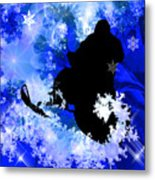 Snowmobiling In The Avalanche  Metal Print