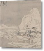 Snowscape From Album For Zhou Lianggong Metal Print