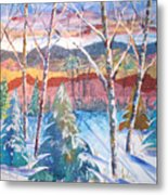 snowy Afternoon Metal Print