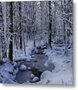 Snowy Creek Metal Print