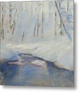 Snowy Creek Metal Print