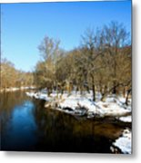 Snowy Creek Morning Metal Print