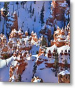 Snowy Fairy Castle Metal Print