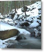 Snowy Falls Metal Print