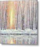 Snowy Glow Metal Print