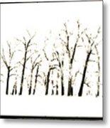 Snowy Line Up Metal Print